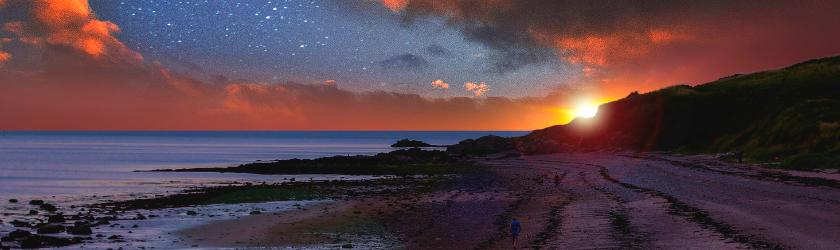 Sunset on Morecambe Bay